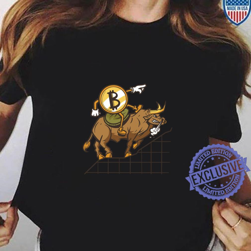 Bitcoin Bull Run Kryptowährung Blockchain Tech Langarmshirt Shirt ladies tee