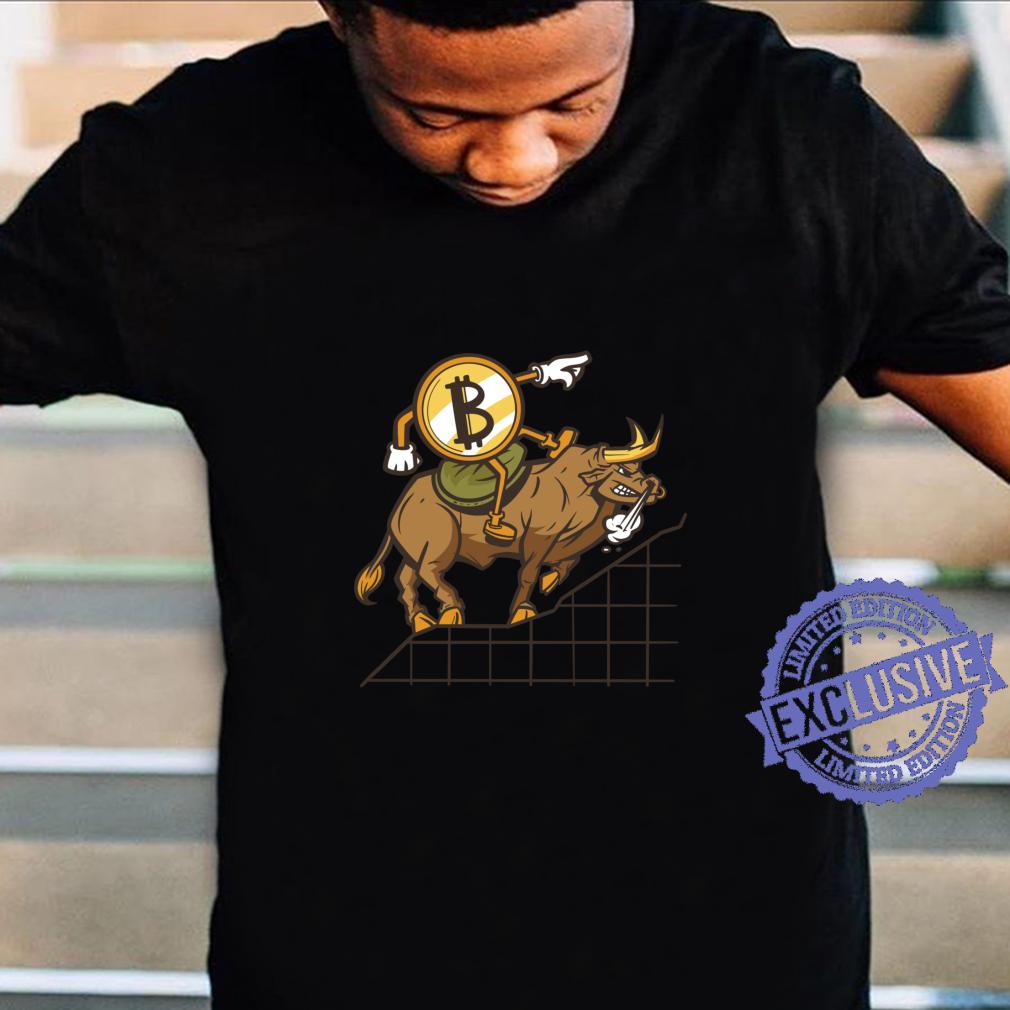 Bitcoin Bull Run Kryptowährung Blockchain Tech Langarmshirt Shirt