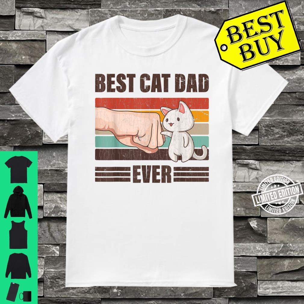 Mens Best Cat Dad Ever Father's Day Daddy Shirt