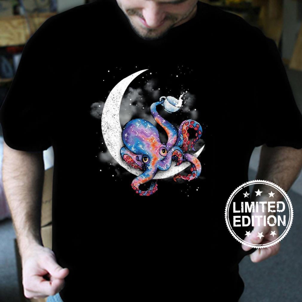 Octopus Sit On The Moon shirt