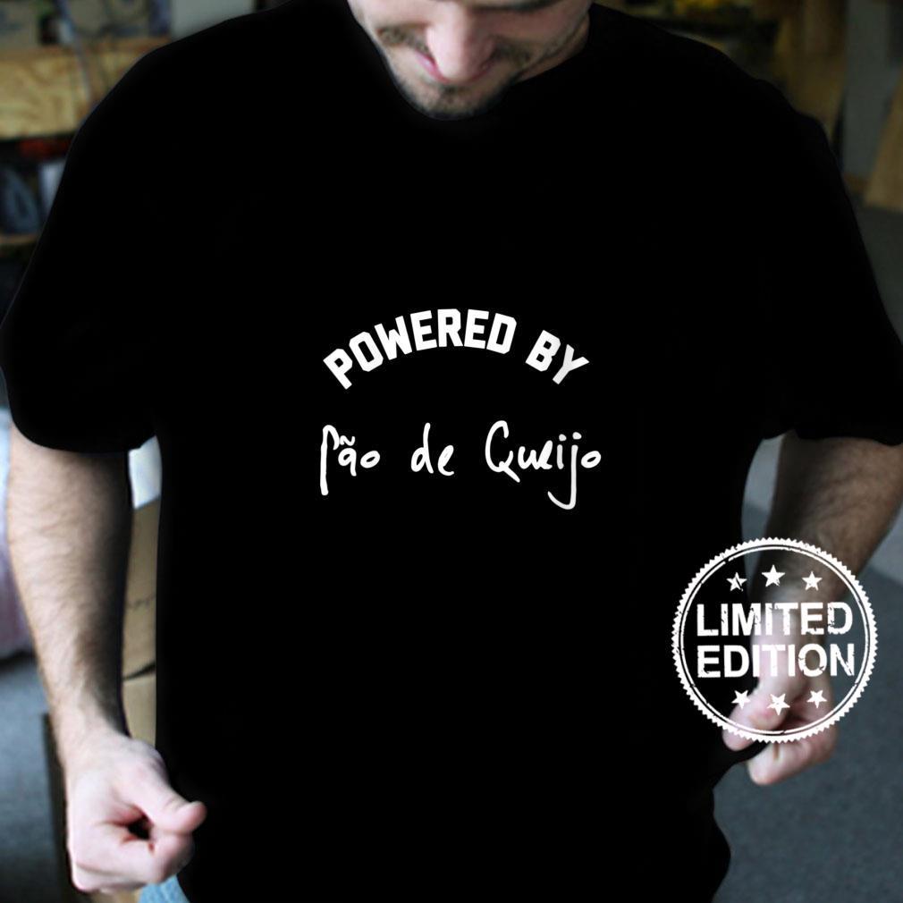 Womens Powered By Pao de Queijo Brazilian Brazil Brazil Pride Shirt