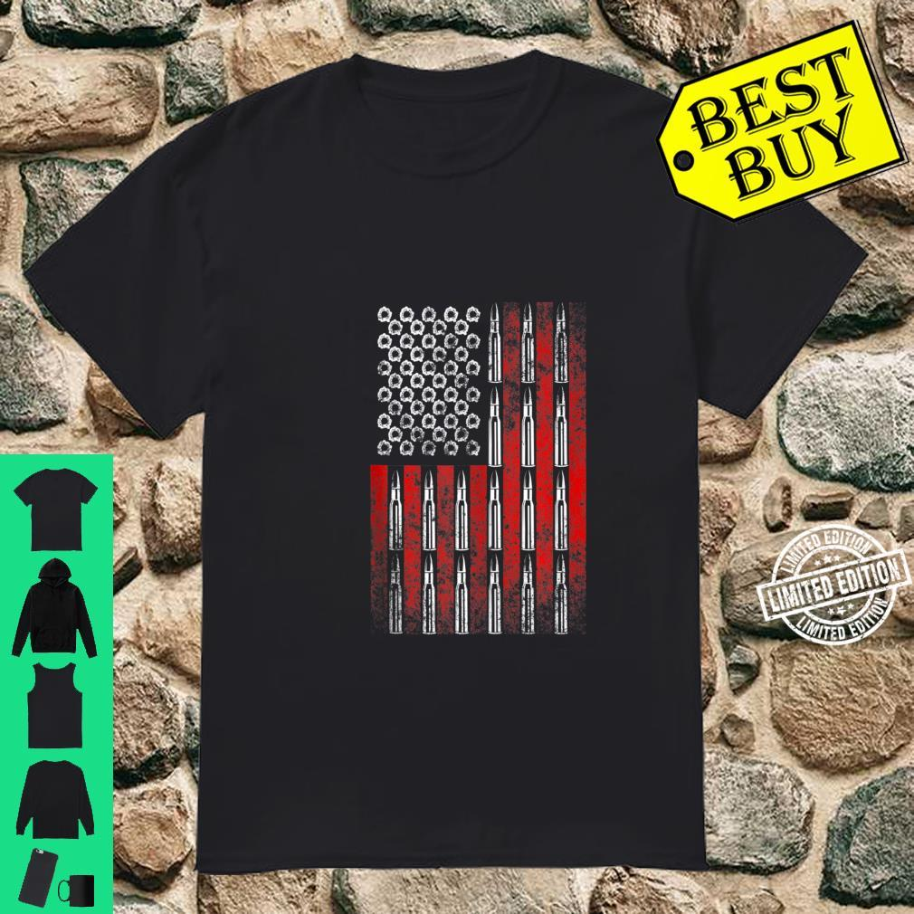 2nd Amendment Gun Rights US Flag Pro Gun Rifle Bullets Shirt