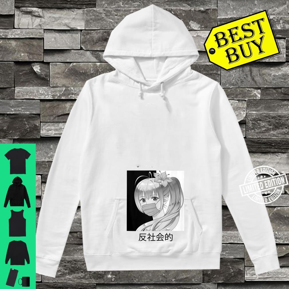 Anti and versus Social Japanese Aesthetic Vaporwave Anime Shirt hoodie