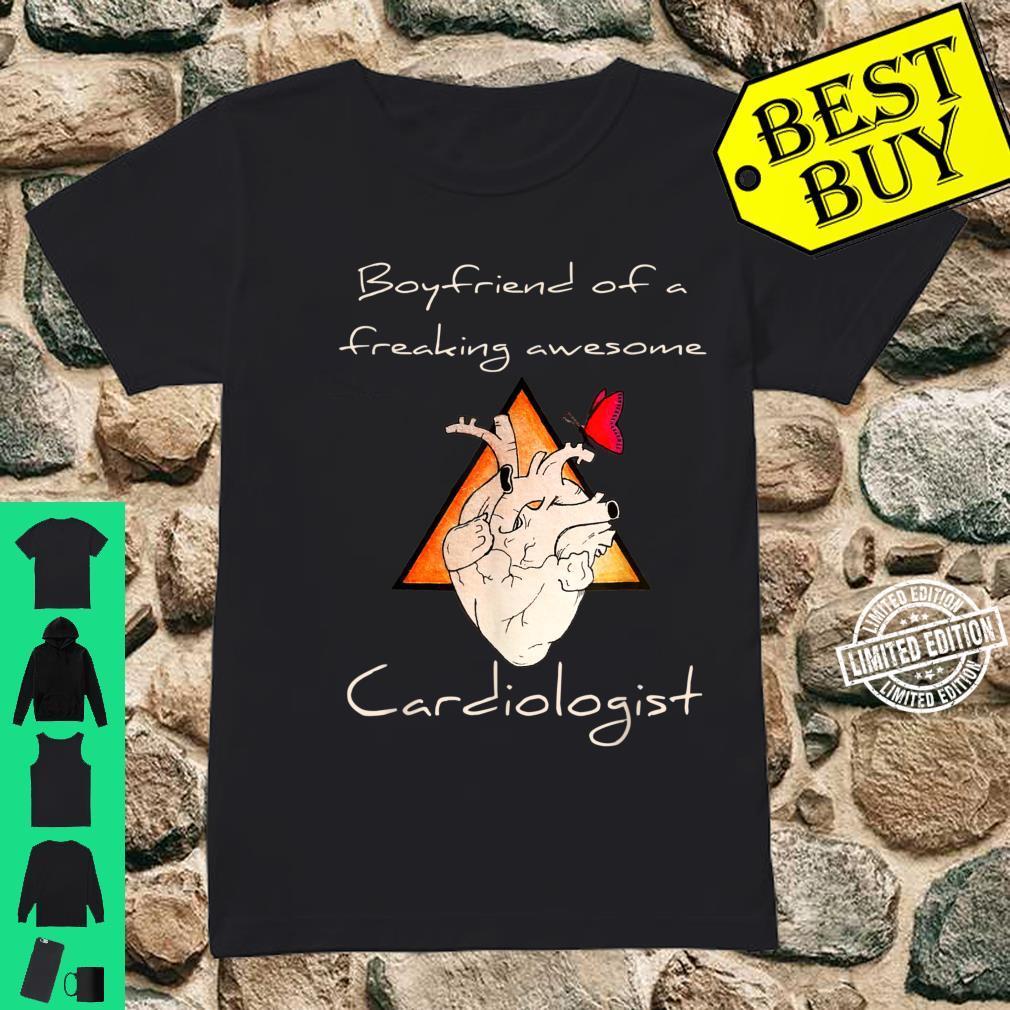 Boyfriend Of A Cardiologist Valentine's Day Shirt ladies tee