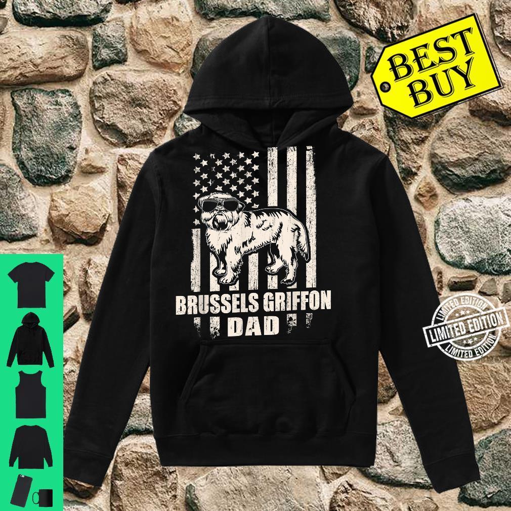 Brussels Griffon Dad Cool Vintage Retro Proud American Shirt hoodie