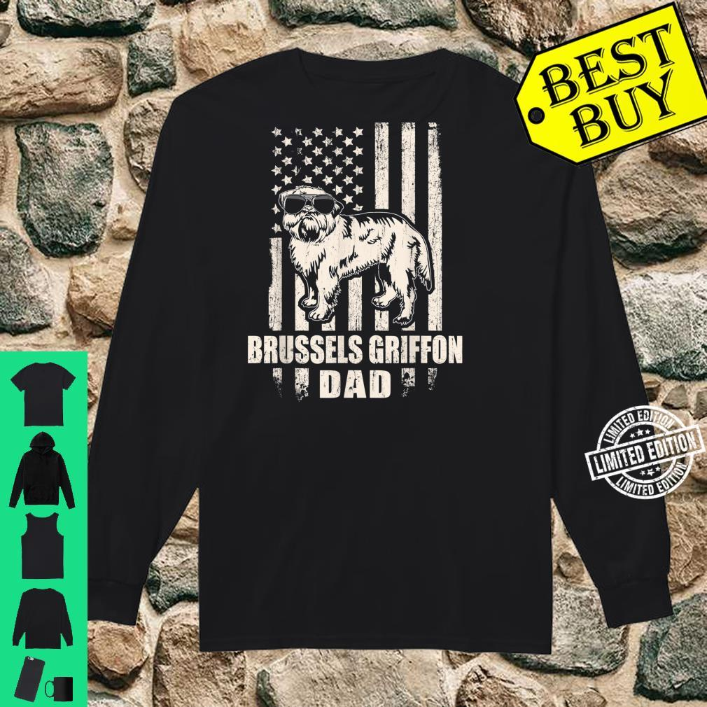 Brussels Griffon Dad Cool Vintage Retro Proud American Shirt long sleeved