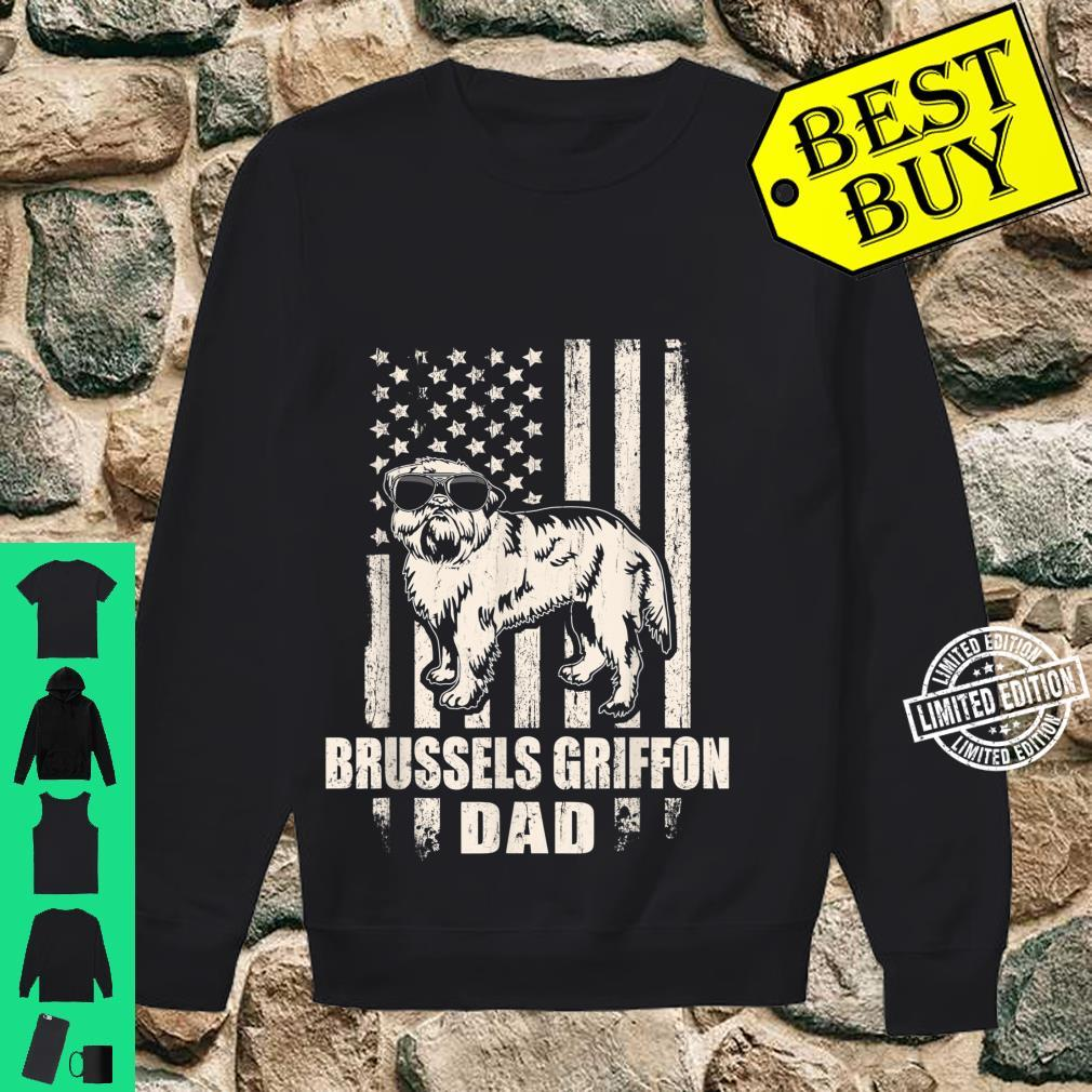 Brussels Griffon Dad Cool Vintage Retro Proud American Shirt sweater