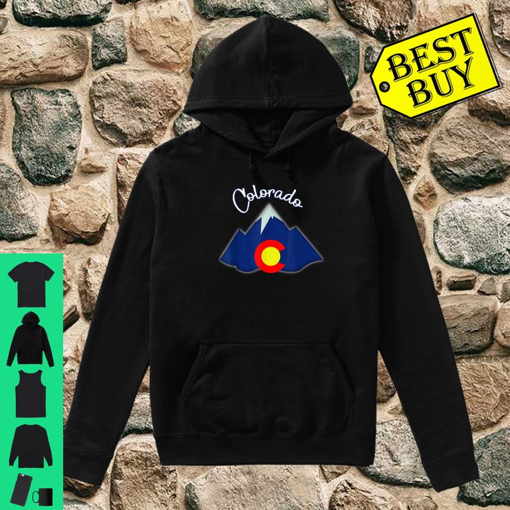 Colorado Grown Flag Mountain Patriotic Native Coloradan Shirt hoodie
