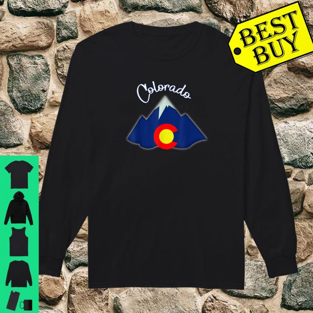 Colorado Grown Flag Mountain Patriotic Native Coloradan Shirt long sleeved