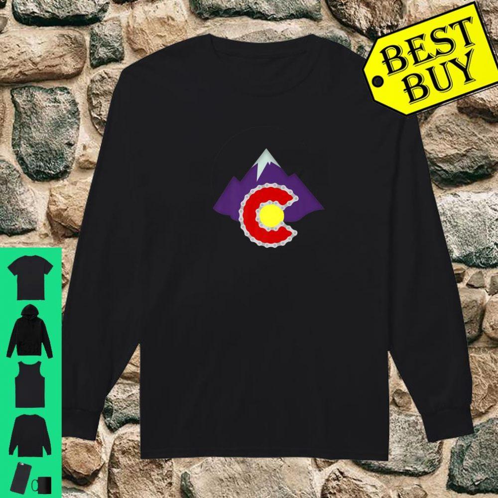 Colorado Mountain biking cycling bike riding Shirt long sleeved