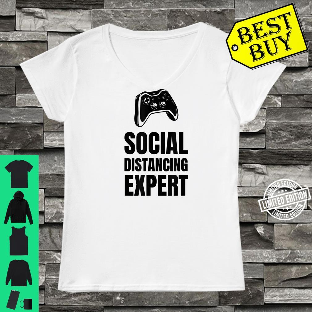Funny For Gamers Social Distancing Shirt ladies tee
