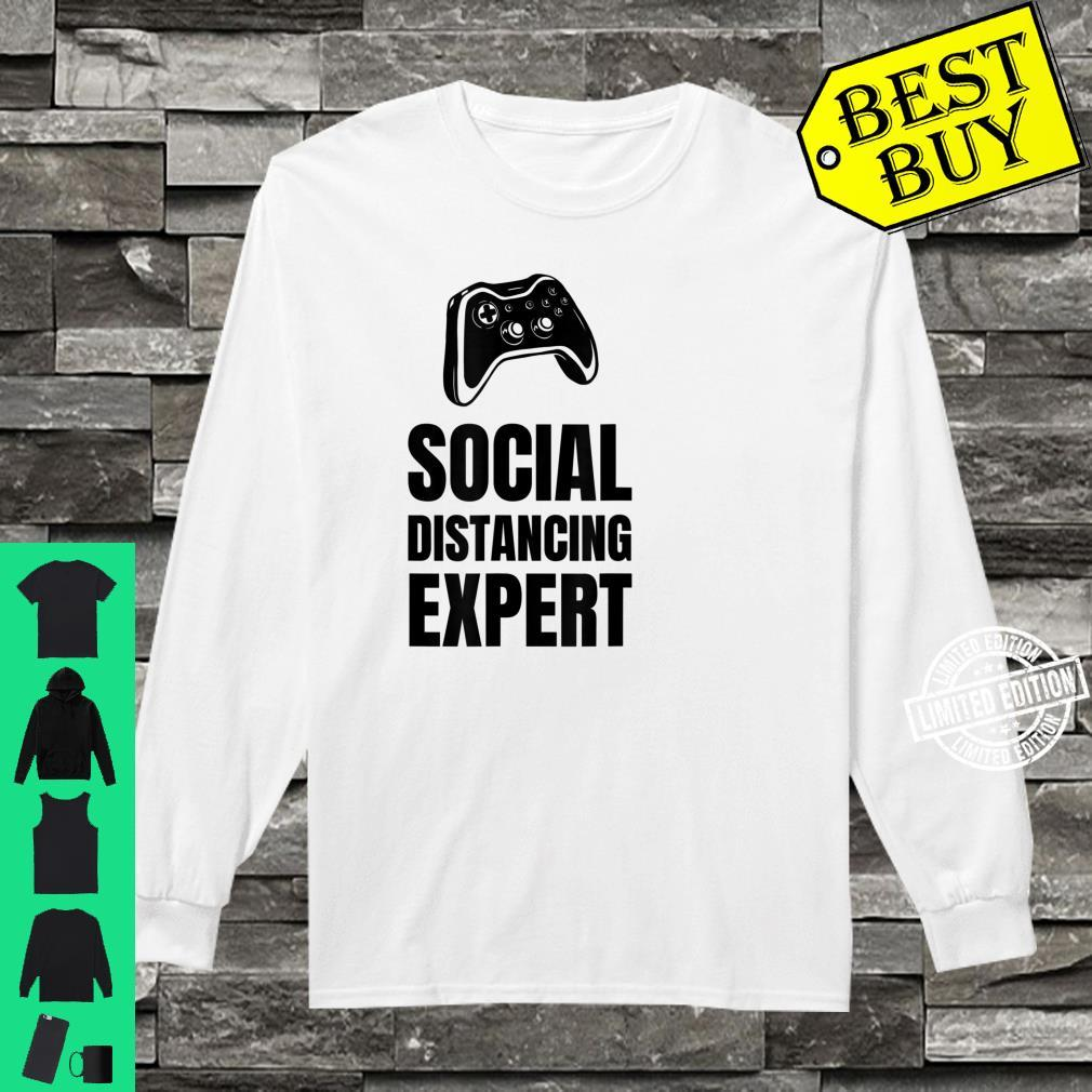 Funny For Gamers Social Distancing Shirt long sleeved