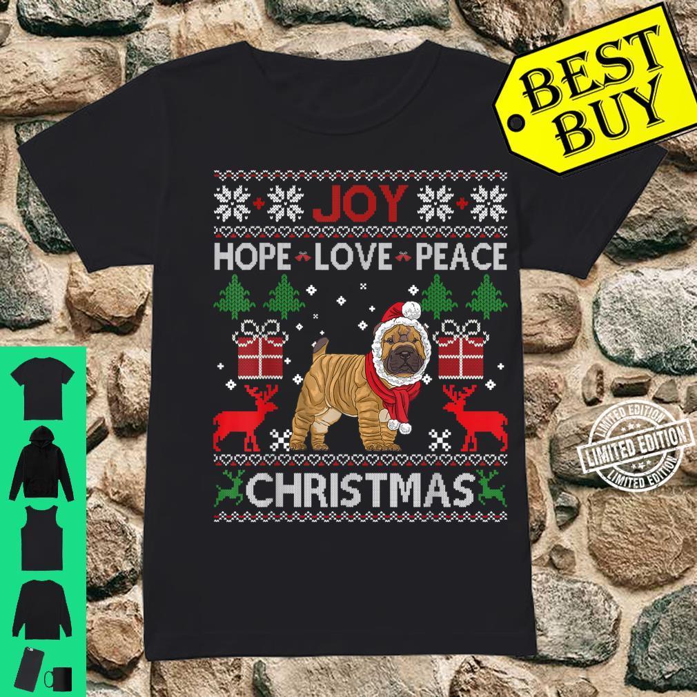 Joy Hope Love Peace Christmas Shar Pei 2020 Shirt ladies tee