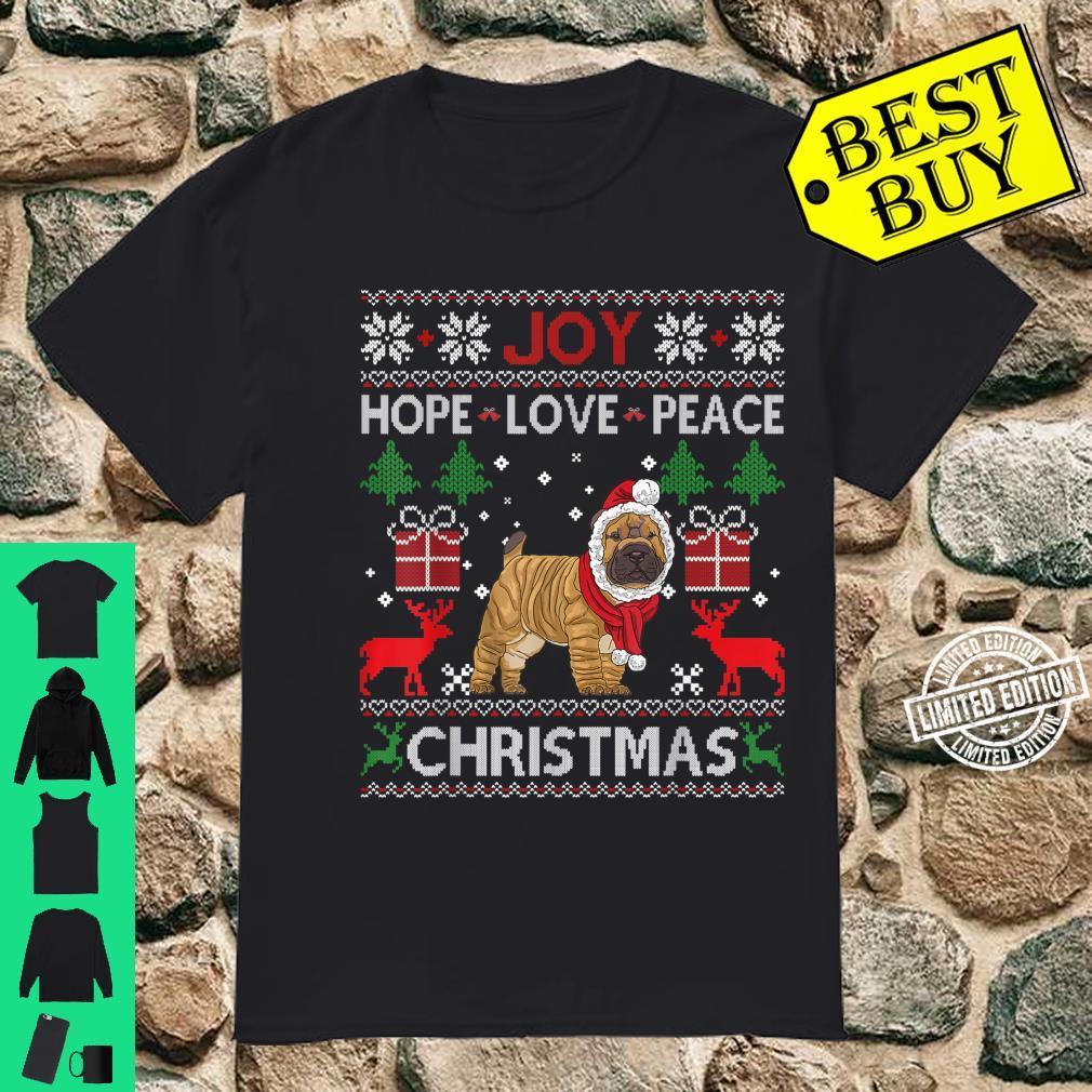 Joy Hope Love Peace Christmas Shar Pei 2020 Shirt