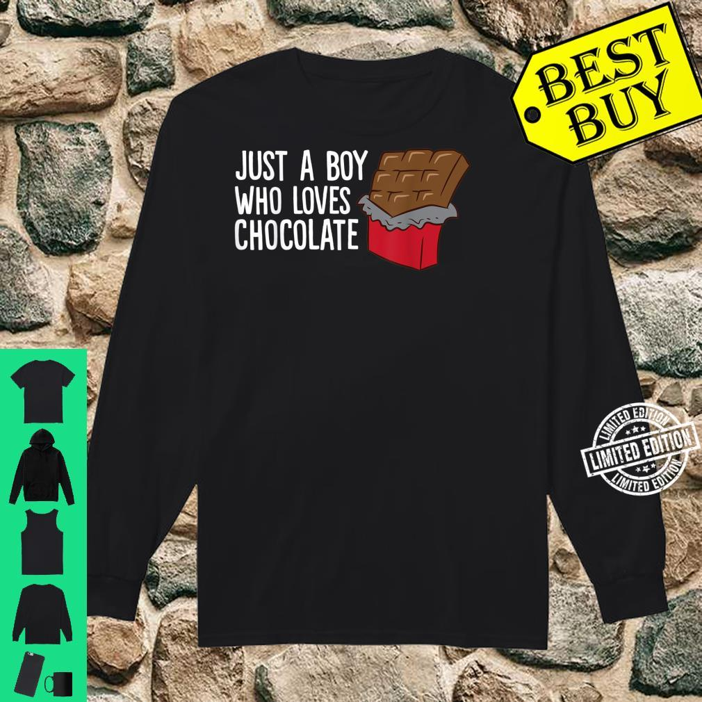 Just a Boy Who Loves Chocolate Shirt long sleeved
