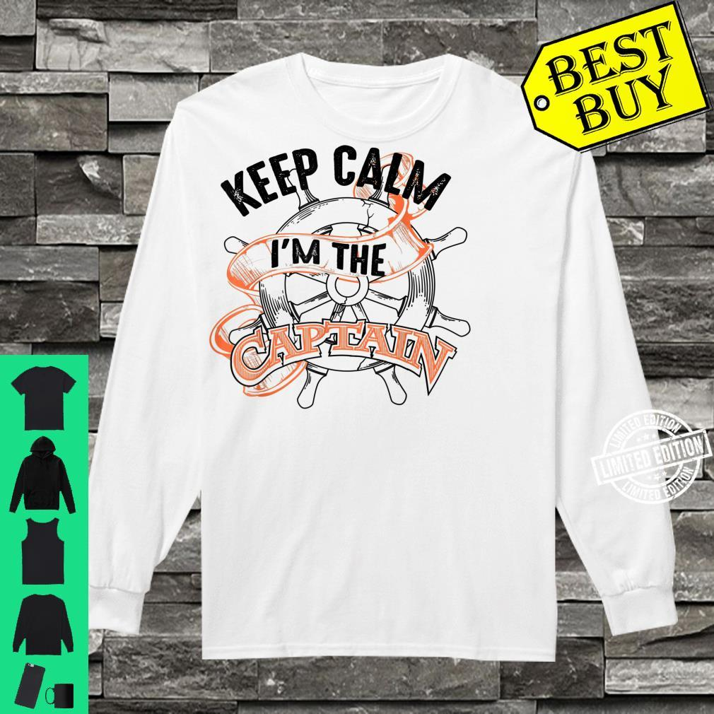 Keep Calm I'm The Captain Anchor Boat Addicts Shirt long sleeved