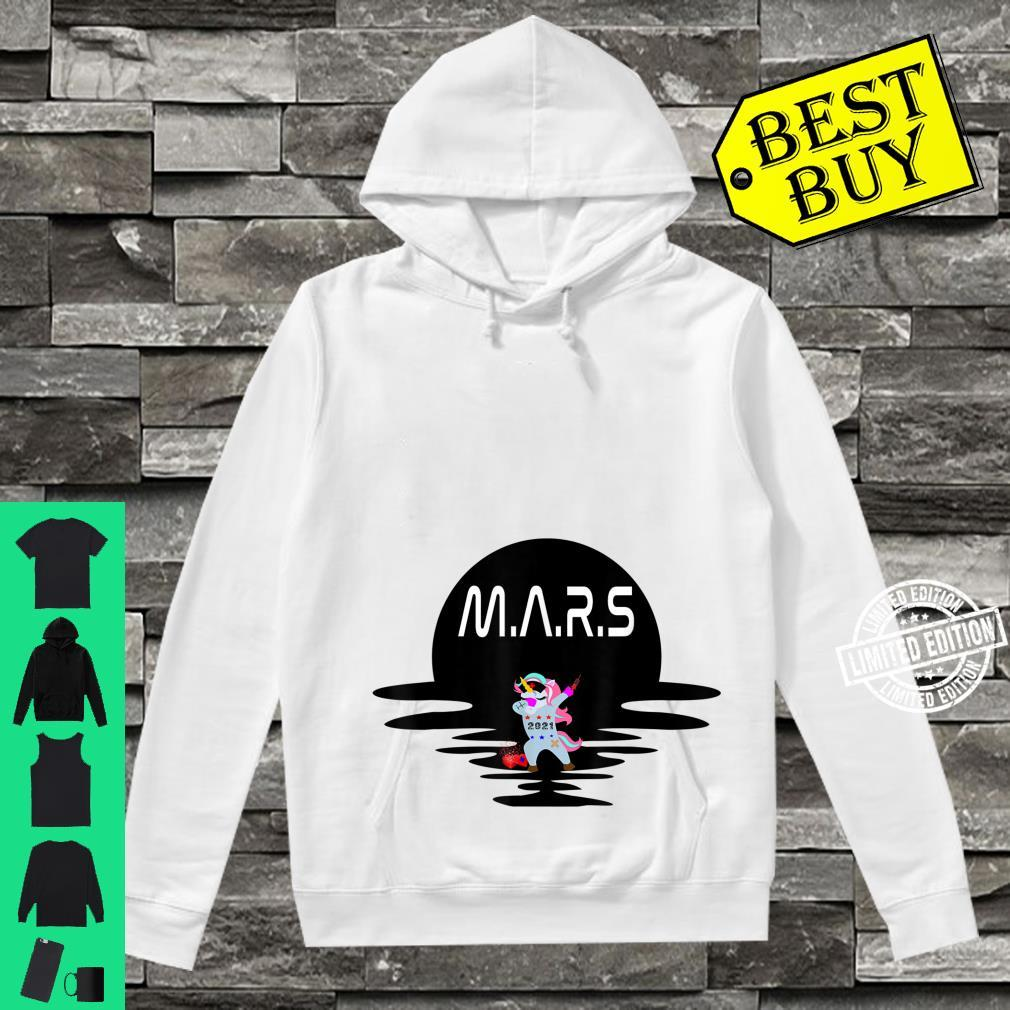 Mars Design With Space Unicorn Planet Space Shirt hoodie