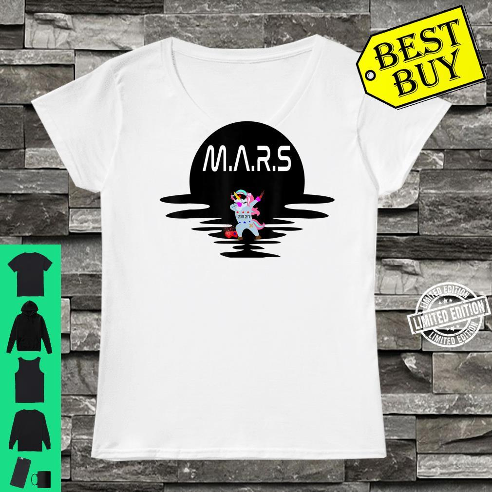 Mars Design With Space Unicorn Planet Space Shirt ladies tee