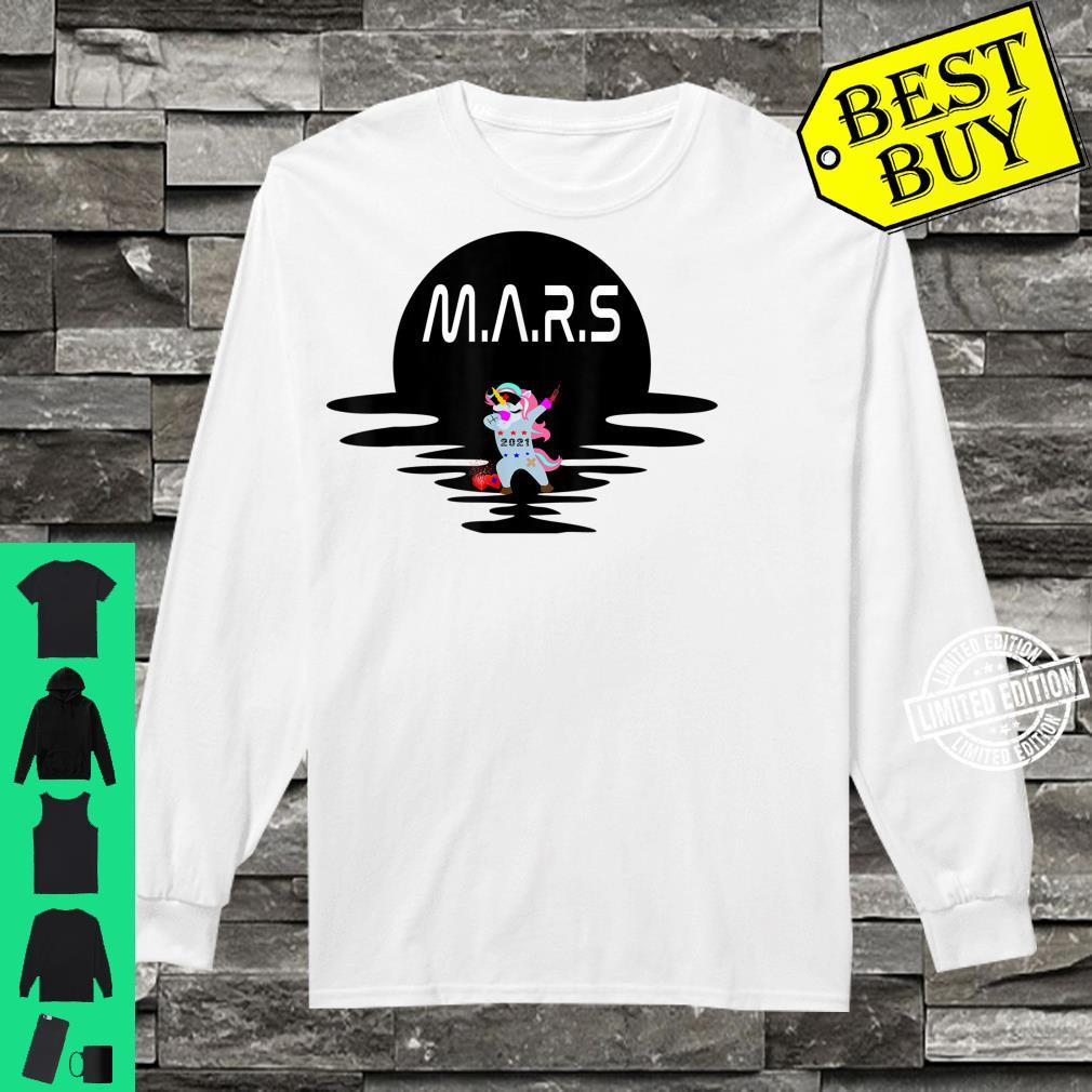 Mars Design With Space Unicorn Planet Space Shirt long sleeved