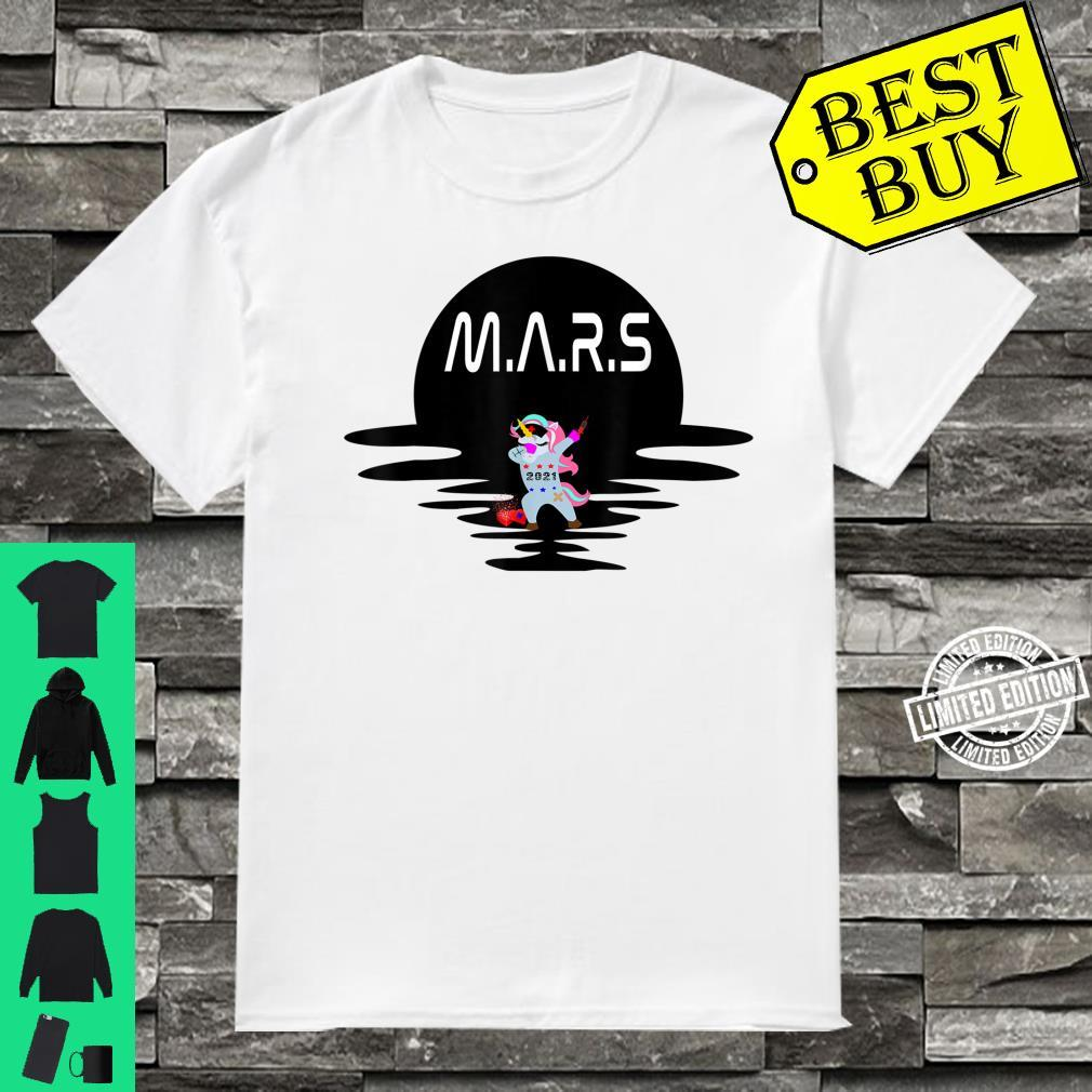 Mars Design With Space Unicorn Planet Space Shirt