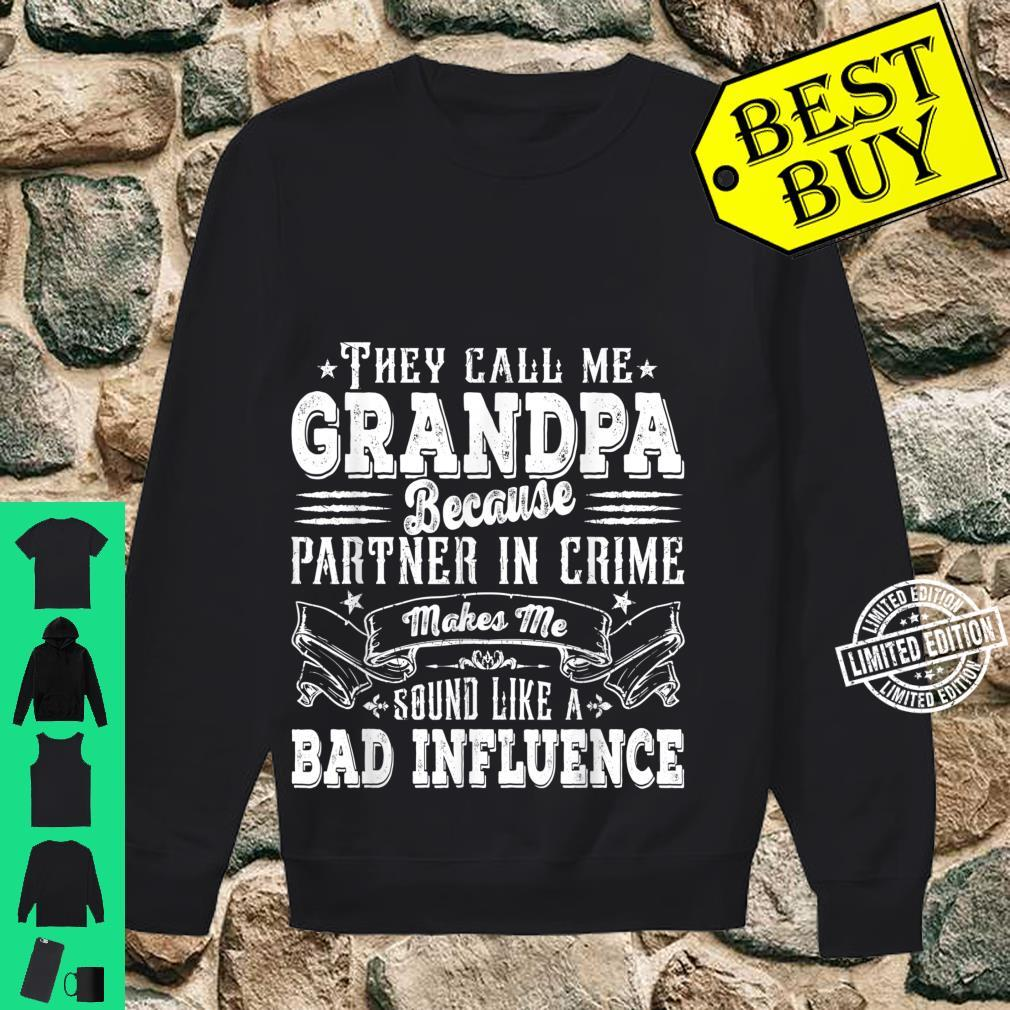 Mens Grandpa Dad Bad Influence Father's Day Christmas Shirt sweater