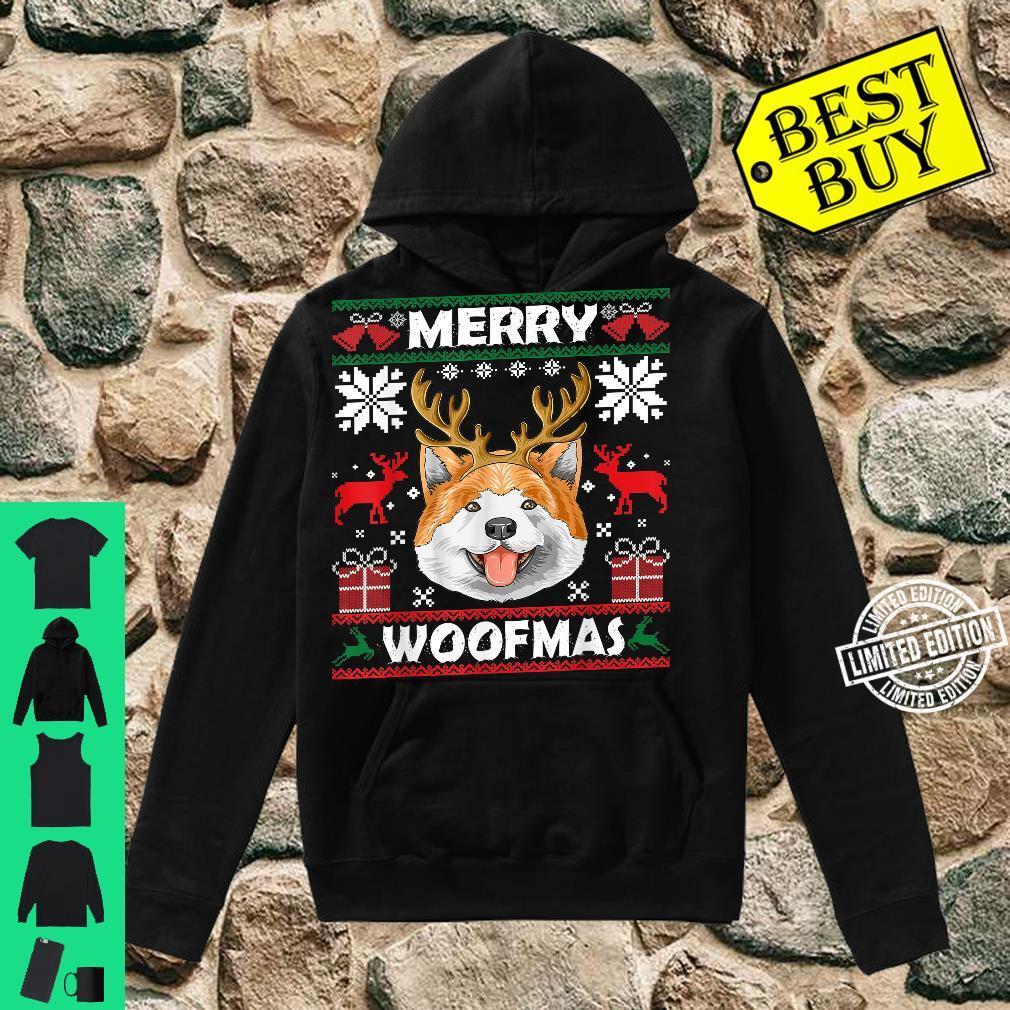 Merry Woofmas Akita Christmas Dog Xmas Shirt hoodie