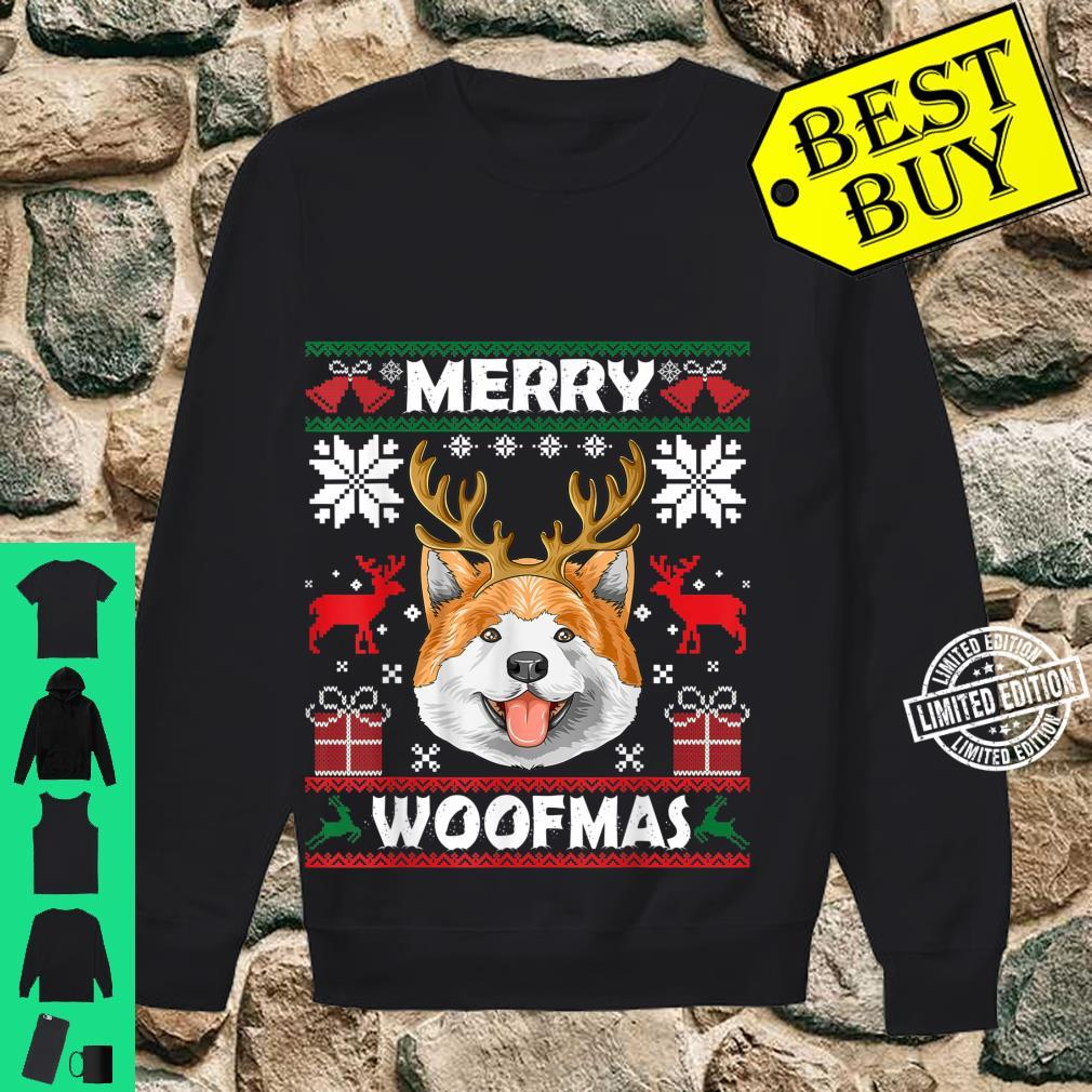 Merry Woofmas Akita Christmas Dog Xmas Shirt sweater