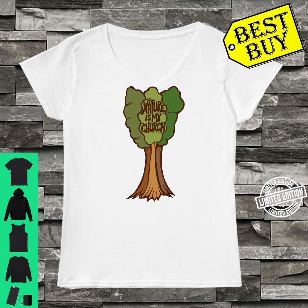 Nature is my Church Druid Earth Day Shirt ladies tee