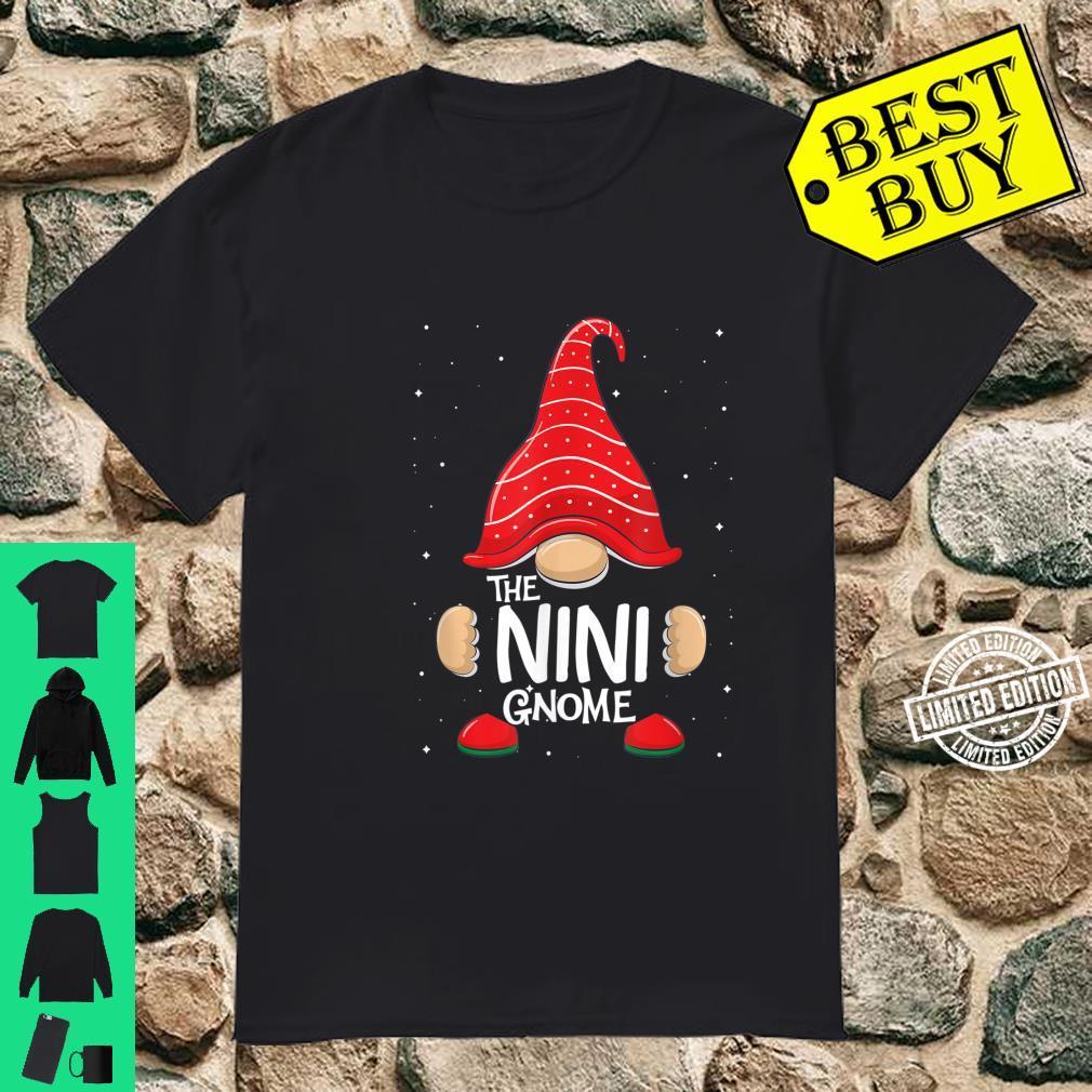 Nini Gnome Family Matching Christmas Pajama Shirt