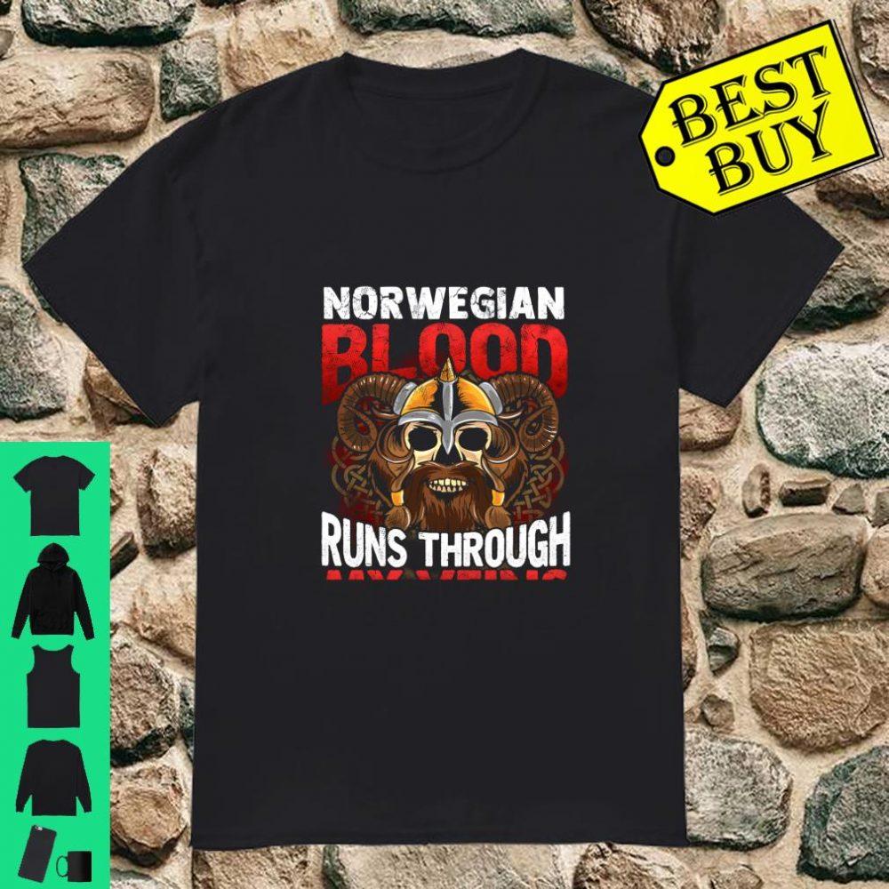 Norwegian Viking Blood Norway Norge Vikings Runs Through My Veins shirt