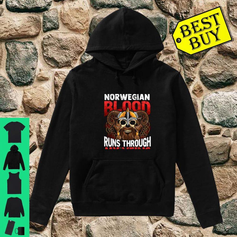 Norwegian Viking Blood Norway Norge Vikings Runs Through My Veins shirt hoodie