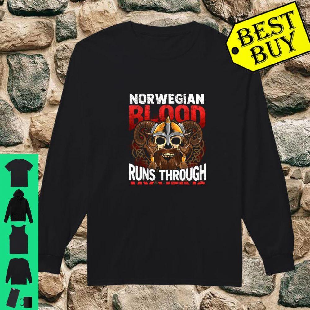 Norwegian Viking Blood Norway Norge Vikings Runs Through My Veins shirt long sleeved