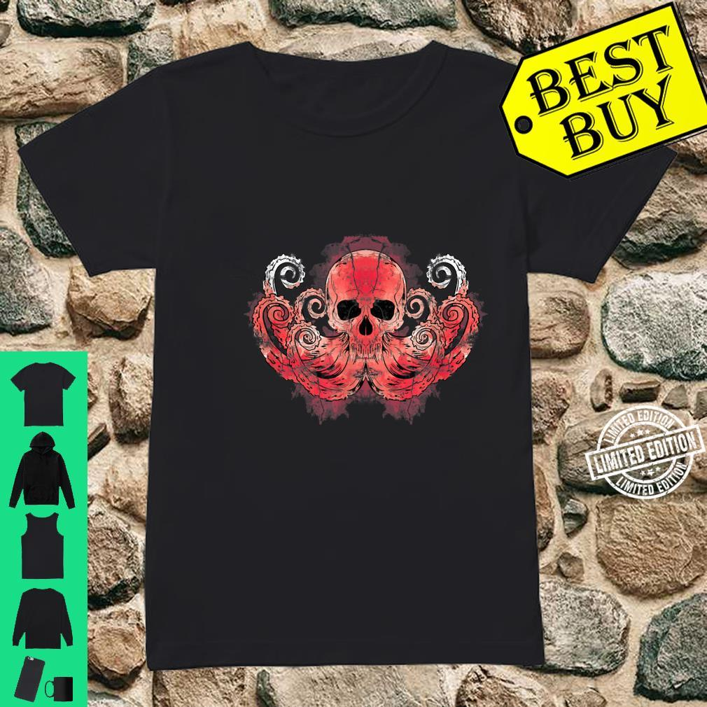 Octopus Predator Kraken Skull Octopus Shirt ladies tee