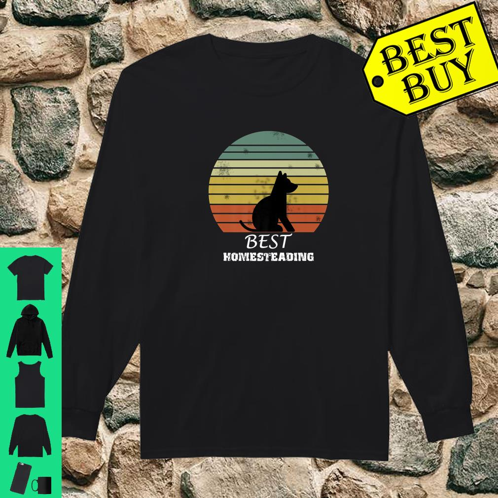 Official Best Homesteading Dog shirt long sleeved