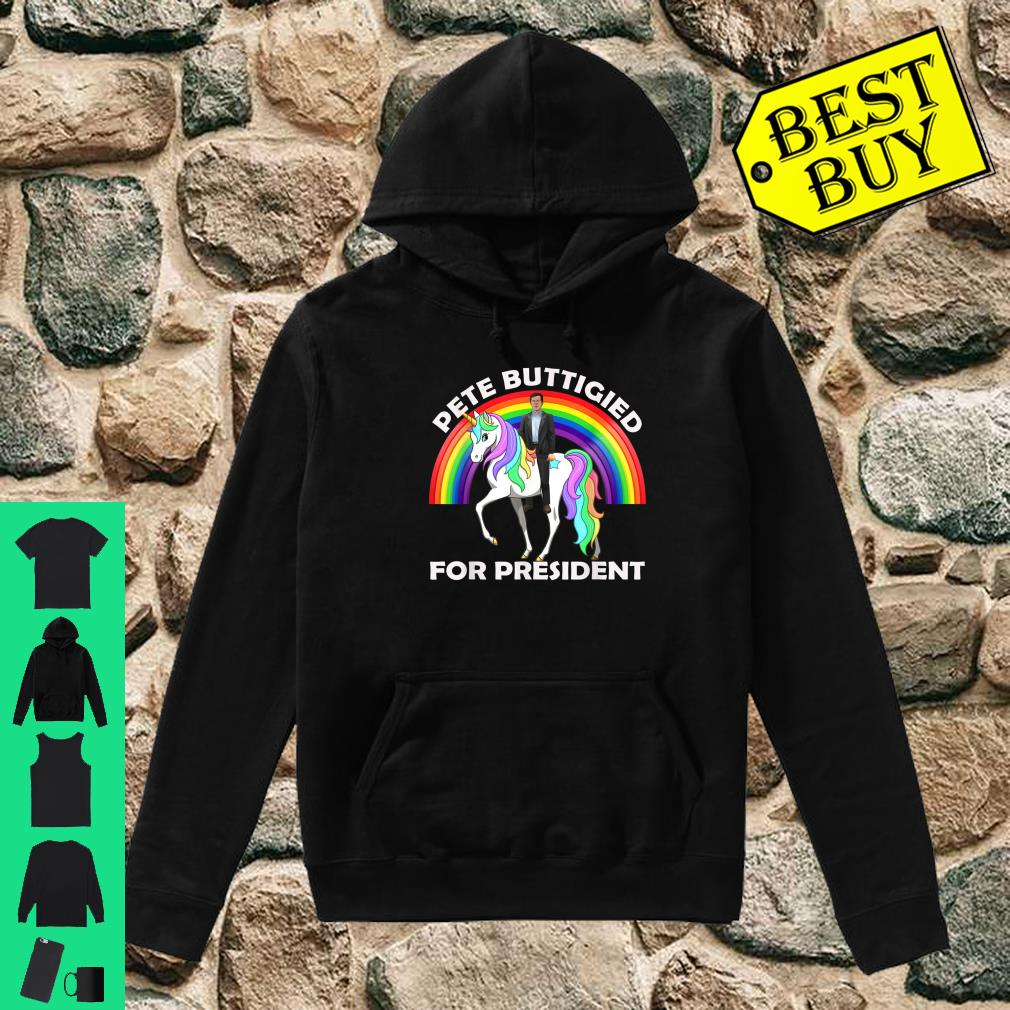 Pete Buttigieg Riding Unicorn Pete For President 2020 shirt hoodie