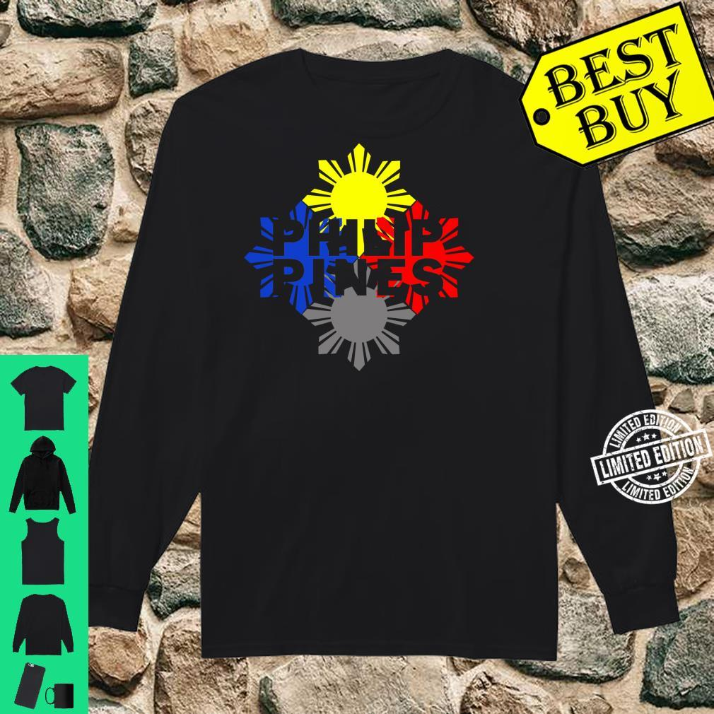 Philippines Philippines Pride Flag I Idea Shirt long sleeved