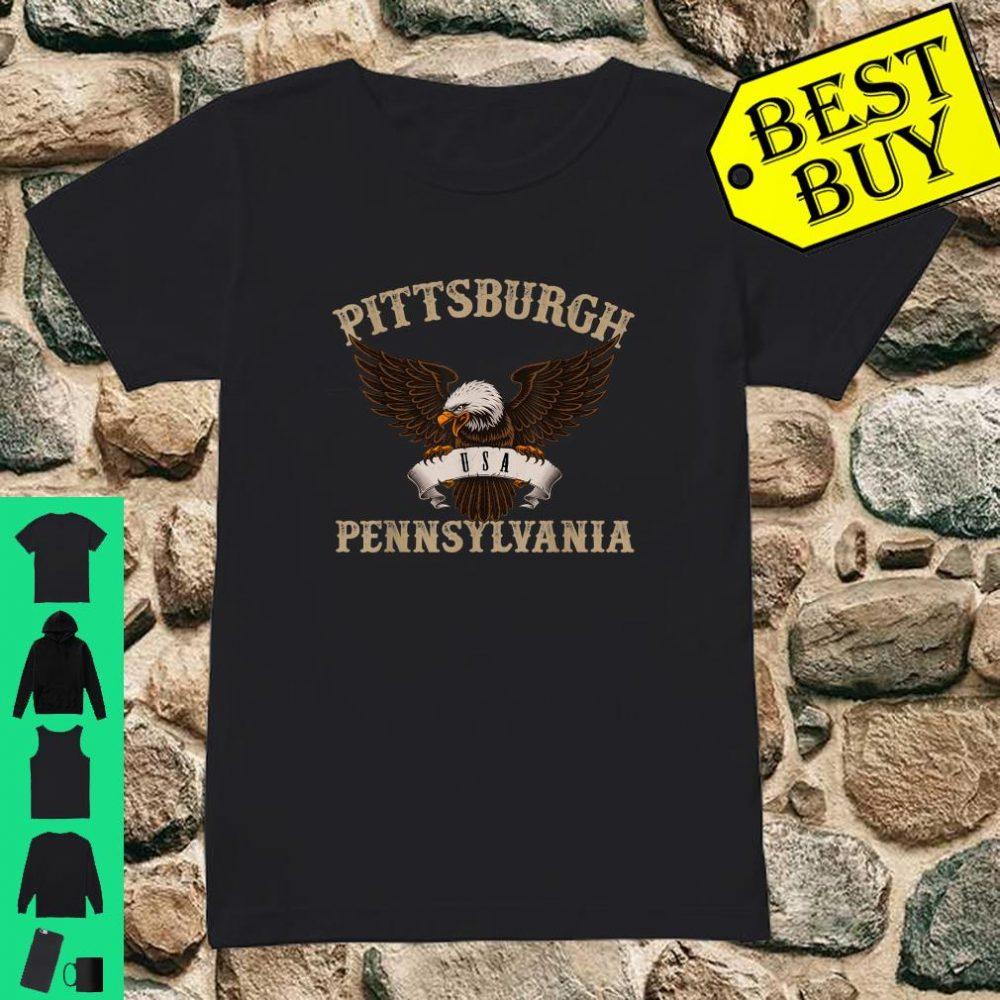Pittsburgh USA Bald Eagle shirt ladies tee