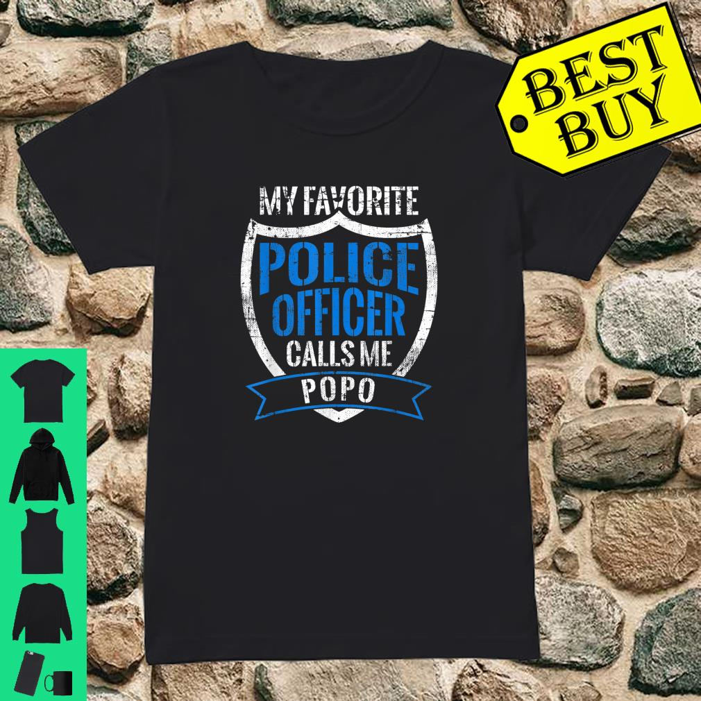 Popo and Grandpa Gifts from Police Officer Blue shirt ladies tee