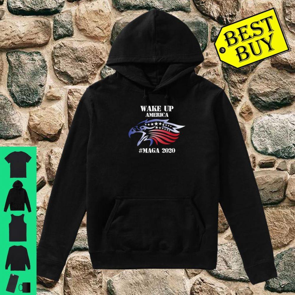 Red White And Blue Bald Eagles Angry Wake Up America MAGA Shirt hoodie