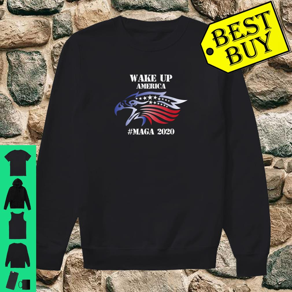 Red White And Blue Bald Eagles Angry Wake Up America MAGA Shirt sweater