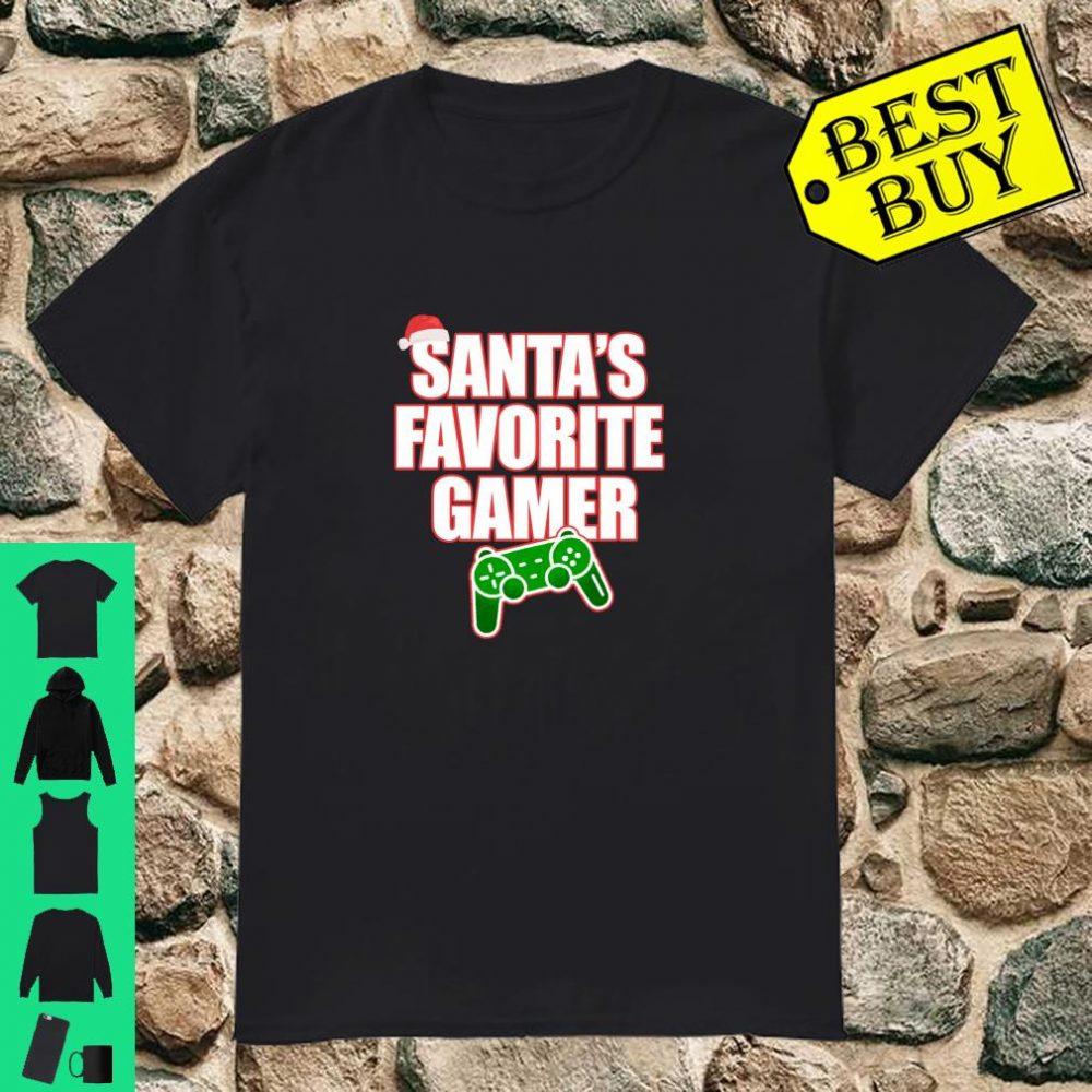 SANTA'S FAVORITE GAMER Funny Video Game Meme Christmas shirt