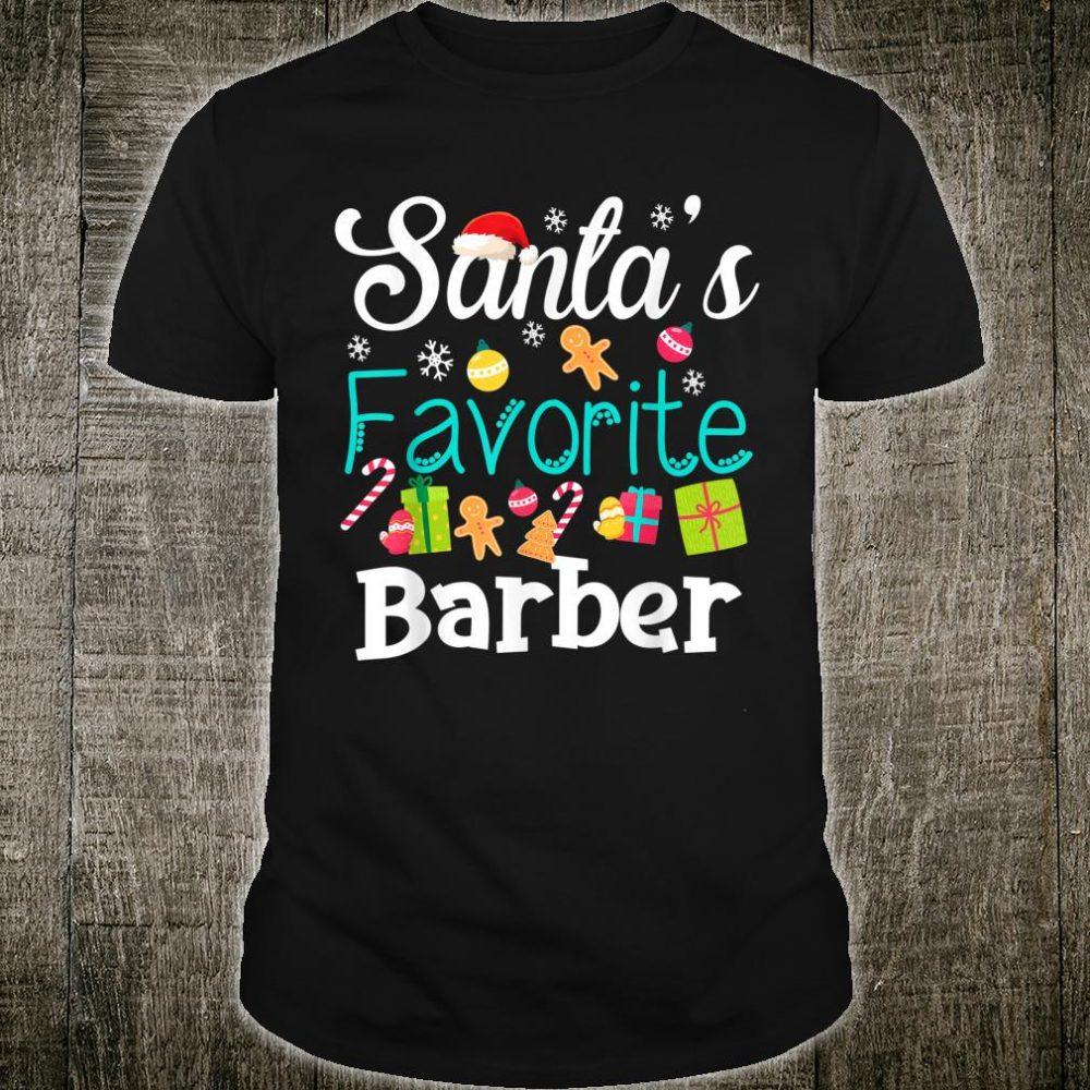 Santa's Favorite Barber Santa Christmas shirt