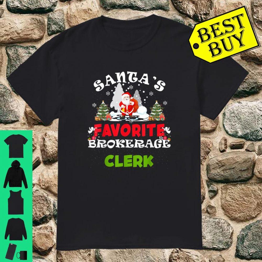 Santa's Favorite Brokerage Clerk Christmas shirt