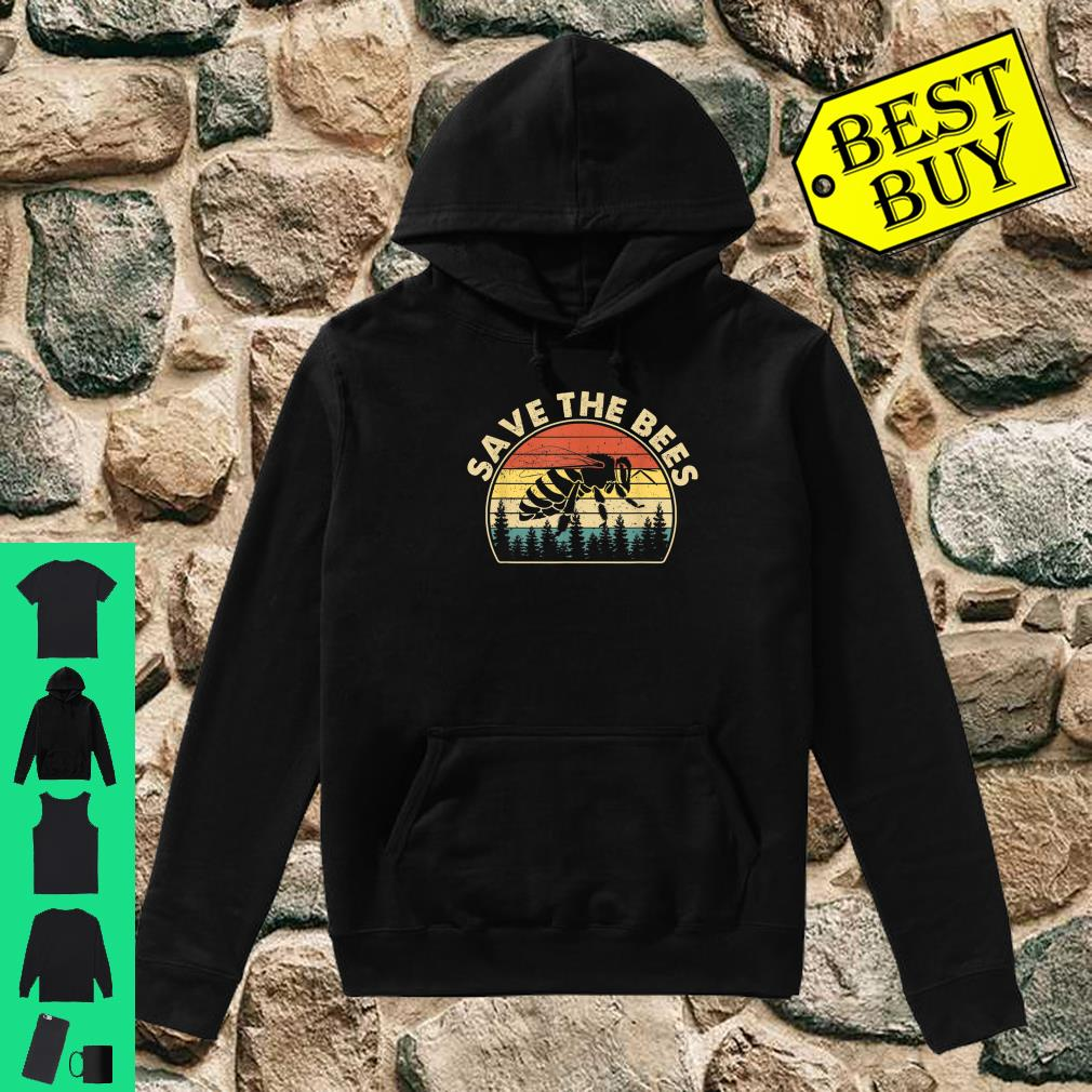 Save The Bees Vintage Retro Style Climate Change shirt hoodie