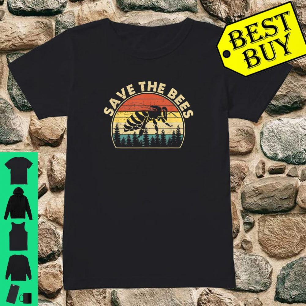 Save The Bees Vintage Retro Style Climate Change shirt ladies tee