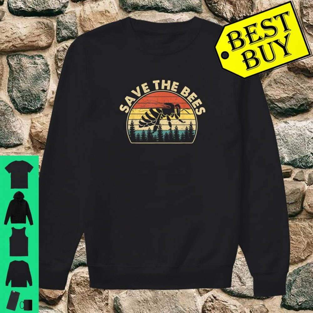 Save The Bees Vintage Retro Style Climate Change shirt sweater