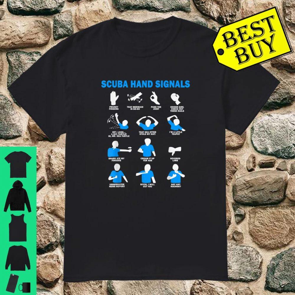 Scuba Hand Signals Shirt Diver Hand Sign Shirt