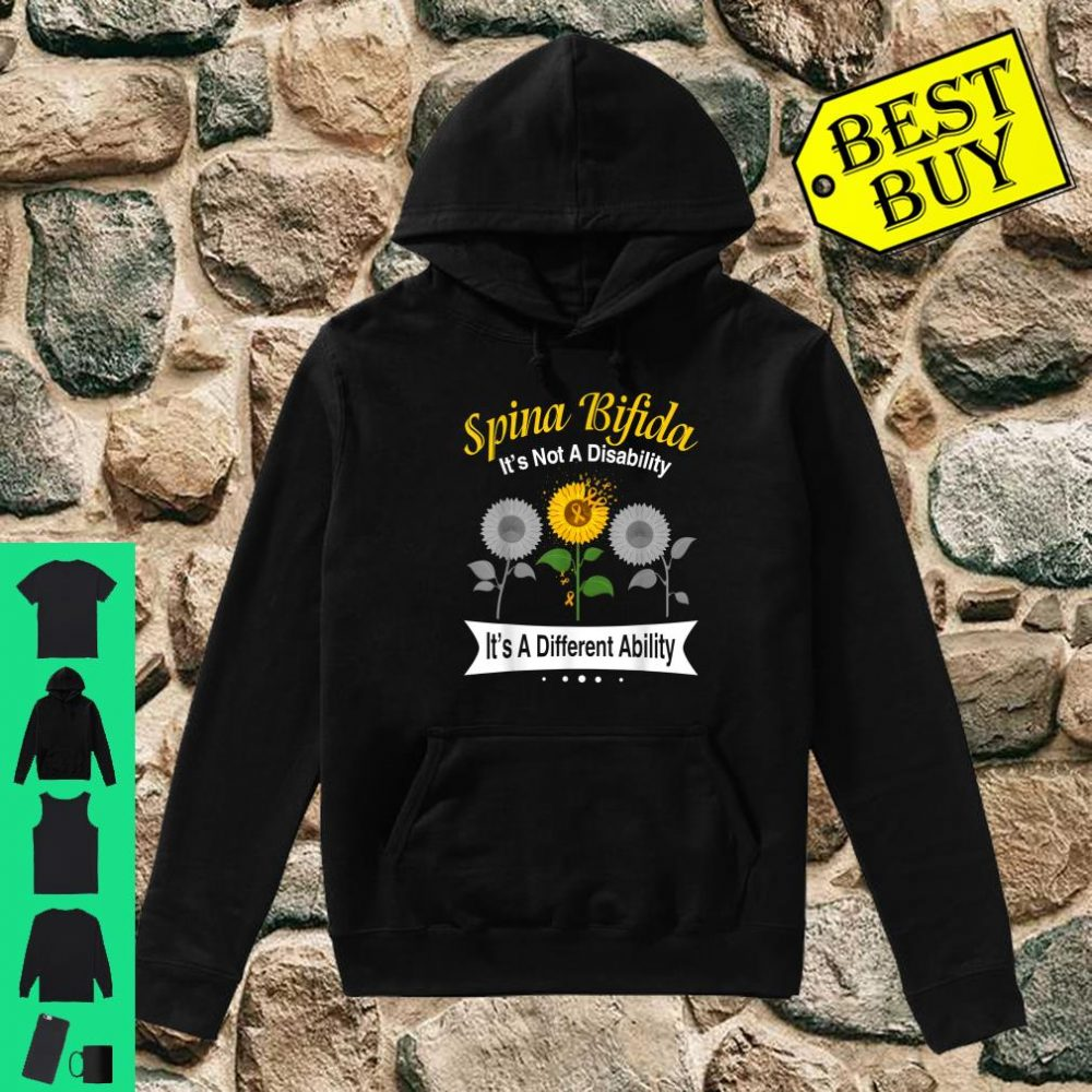 Spina Bifida It's Not A Disability It's A Different Ability shirt hoodie