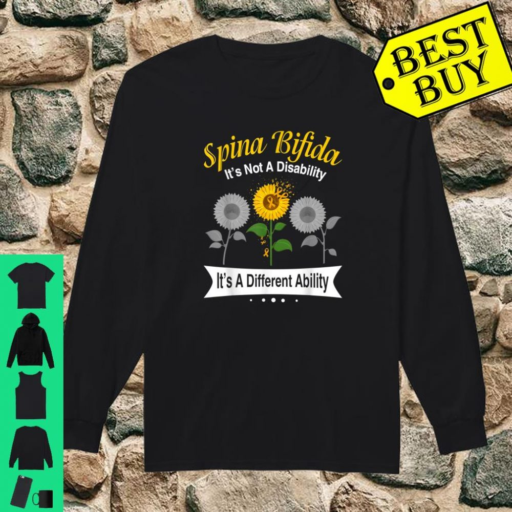 Spina Bifida It's Not A Disability It's A Different Ability shirt long sleeved