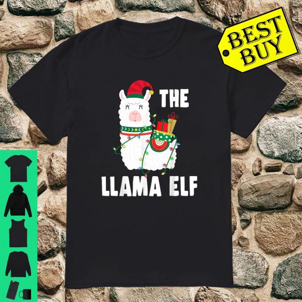 The Llama Elf Christmas Light Snow shirt